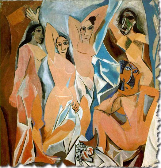 picasso, les demoiselles d'avignon
