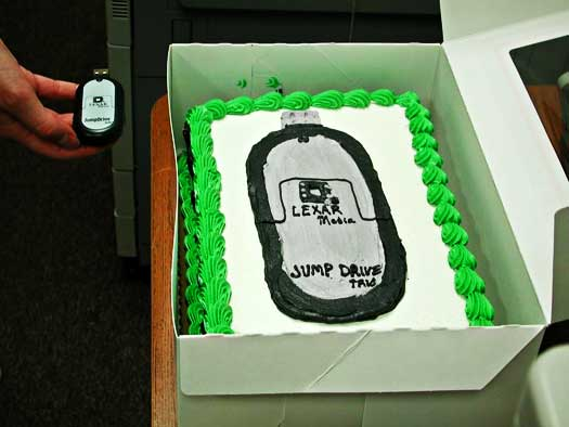 flash drive cake