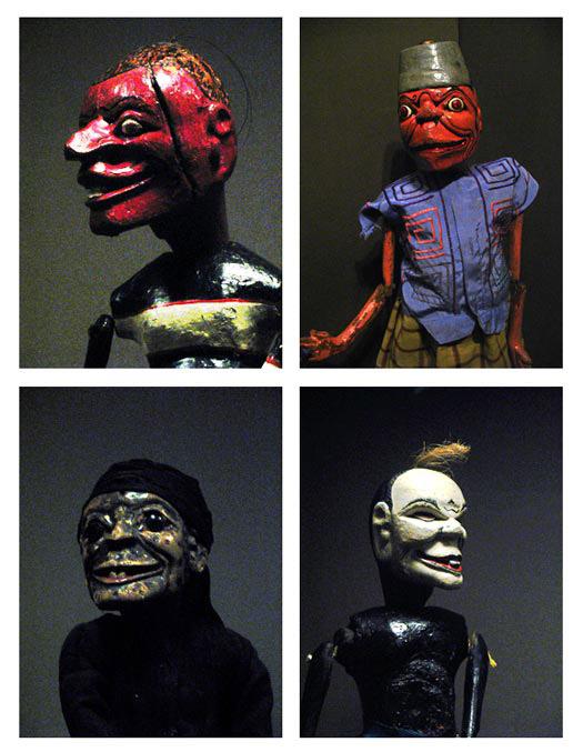 central java indoenisa wayang colek rod puppet jesters or clowns