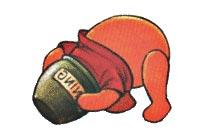 pooh stuck in honey jar